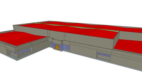 Maquette 3D d'une surface commerciale - St Martin des Champs (29)